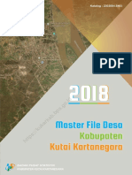 Master File Desa Kabupaten Kutai Kartanegara 2018