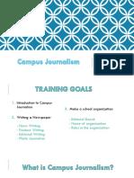 Campus Journalism Training