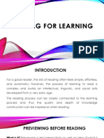 Reading for Learning (Powerpoint Presentation)