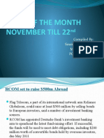 News of the Month November Till 22nd