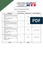 Science 6 Summative Test 1 Qtr 2