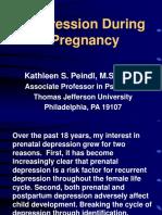 Depresssion during pregnancy