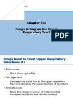Chapter 54 Drugs Acting on the Upper Respiratory Tract