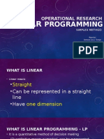 Linear Programming, Simplex Method
