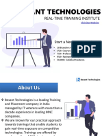 Besant Technologies Pamplet