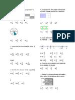 Prueba de Matematicas Fracciones 5
