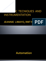 ANALYTIC TECHNIQUES Instrumentation With Automation1 1