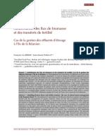Modelisation Des Flux de Biomasse Et Des Transferts de Fertilite