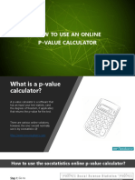 Online p Value Calculator