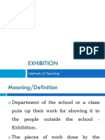 Teaching Methods - Exhibition
