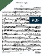 POPP Wilhelm. Schwedische Idylle. flûte & piano