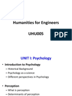 1 Perspectives of Psychology