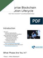 Enterprise Blockchain Solution Lifecycle