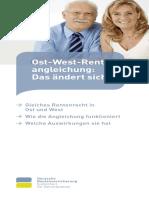 Ost West Rentenangleichung
