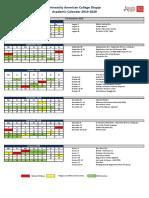 UACS Academic Calendar 2019 2020