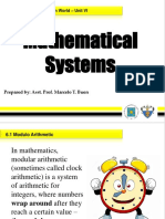 6.1 Mathematical Systems