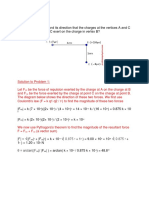 Problem and Solution Electric Field