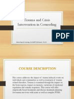 Trauma and Crises Intervention