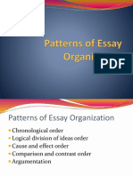 Patterns of Essay Organization