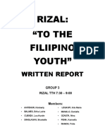 To the Filipino Youth