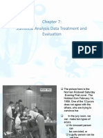 Statistical Analysis Data Treatment and  Evaluation
