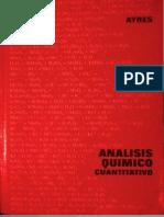 AYRES Analisis Químico Cuantitativo