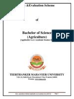 B.sc . Agriculture Syllabus 2018 19