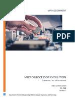 Evolution of Micro processors
