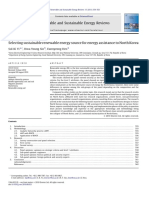 Selecting Sustainable Renewable Energy Source Fo 2011 Renewable and Sustaina