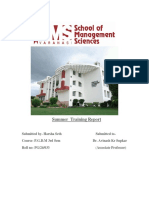 Summer Internship Report Part-1