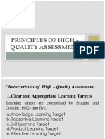 Principles of High – Quality Assessment Powerpoint