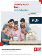 HDFC Life Classic Assure Plus Plan