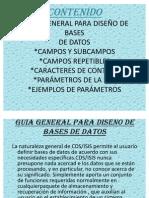 DISEÑO DE SGBD