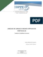 ANÁLISE DE CARGAS E MODOS CRÍTICOS DE PÓRTICOS 2D