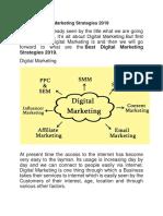 Digital Marketing Strategies 2019
