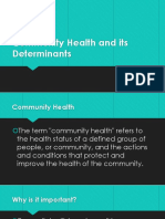 Community Health and Its Determinants