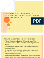 Training and Program to Increase Work Satisfaction In