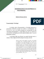 03 Sá Roberto - A Analítica Fenomenológica Da Existência