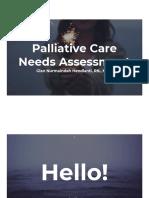 Palliative Needs Assessment