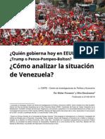 2019 02 21 Quien Gobierna Hoy en Estados Unidos. O Como Analizar La Situación en Venezuela