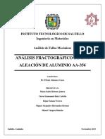 Análisis de Fractura de una aleación de aluminio A-356