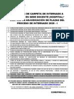 Carpeta Internado en Sedes Docentes Proceso Internado 2020 i