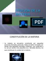 Constitución de La Materia