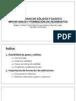 Grupo 1 - Solubilidad de Sólidos y Gases, Importancia y Formación de Sedimentos