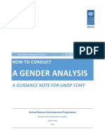 UNDP Guidance Note How to Conduct a Gender Analysis
