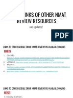 Gdrive Links of Other Nmat Review Resources as of July 21