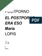 Llopis Maria El Postporno Era Eso