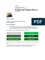 Project Web the New Project Plan