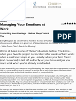 Managing Your Emotions at Work - Career Development From MindTools.com