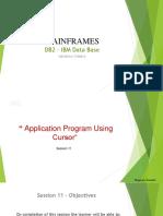 DB2-PPT-8-Application Program Using Cursor V1.0